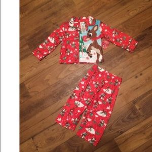 Rudolph the red nosed reindeer pj set 2T
